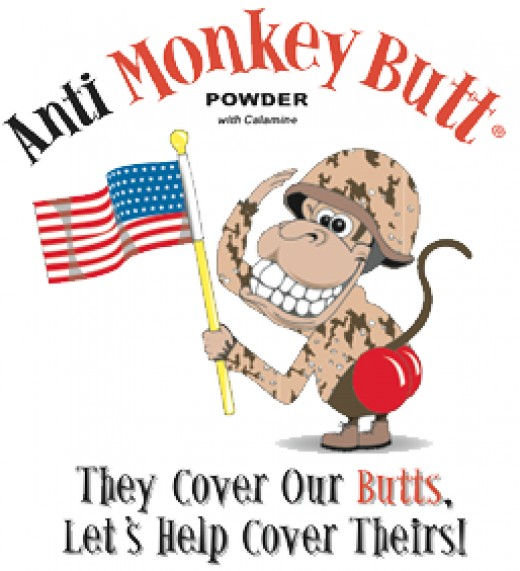 Don't be a butthead-buy the powder and help our soldiers avoid monkey butt!