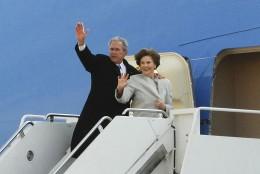 George W Bush & Laura Bush
