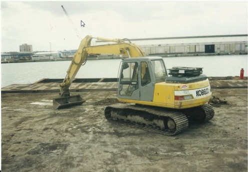 Kobelco 13 tonne 360 degree backhoe