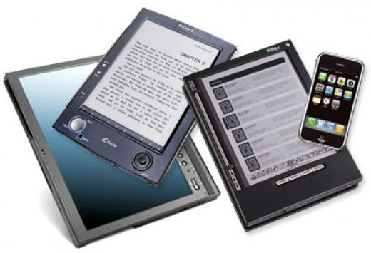 An assortment of eBook Readers that are used to read eBooks.