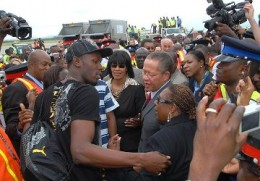 Usain Bolt's return after Olympic glory to be greeted by government officials, press and media