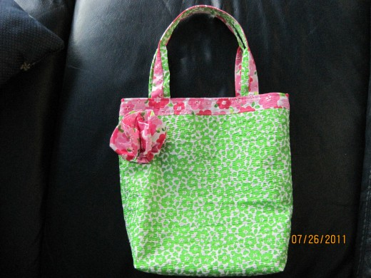 Embellished Gift Tote Bag Is Ready To Give To My Second Grandaughter