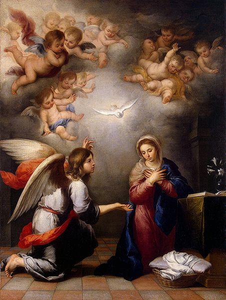 """The Annunciation"" - by Bartolom Esteban Perez Murillo (1655) The Hermitage  St. Petersburg"