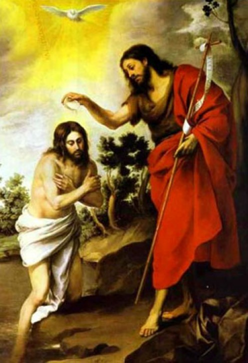 "John the Baptist and Jesus - Behold the Lamb of God, which taketh away the sin of the world!"" (John 1:29 KJV)"