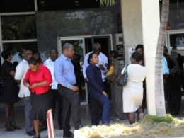 Office workers in Kingston evacuate building after earth tremor