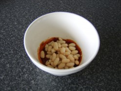 The beans are added last of all to the spicy paste