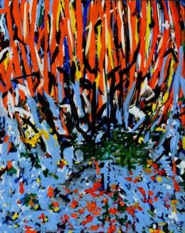 Burning Bush II painting by Wayne Salvatore