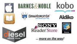 You can opt to have Smashwords distribute your book to Amazon.com's CreateSpace, Barnes & Noble's PubIt!, Apple iPad Bookstore, Sony and Kobo eBookstores, and other eBook distribution online platforms.