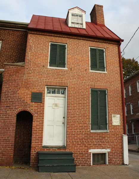 Edgar Allan Poe's Home in Baltimore, MD