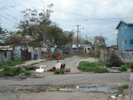 Trench Town after hurricane Dean - Bob Marley's ghetto origins