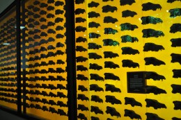 The Dire Wolf is the animal most often found in the tar pits. A whole wall is dedicated to them!