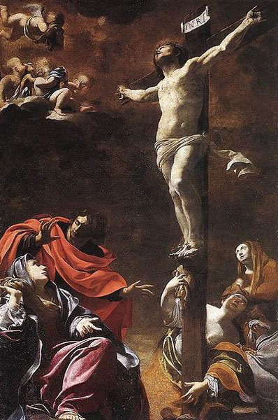 """The Crucifixion"" - by Vouet (1622) Genoa"