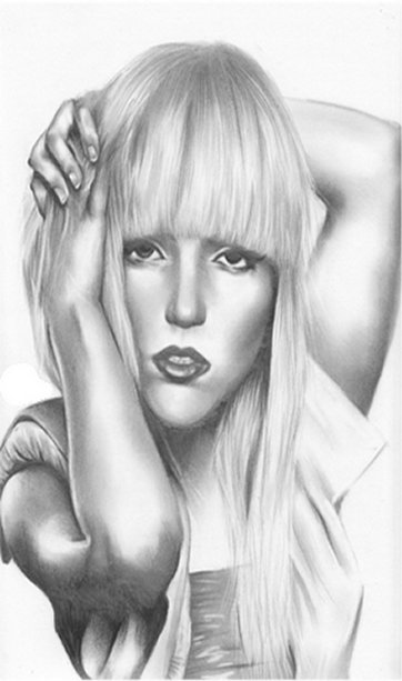 Lady Gaga Coloring Pages Free Colouring Pictures to Print - Pencil Drawing 2