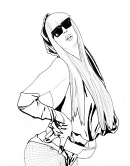 Lady Gaga Coloring Pages Free Colouring Pictures to Print