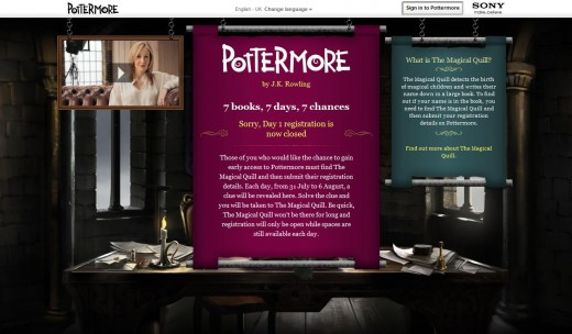 Pottermore is simple still, but we're all hoping that they kept some of the goodies from us Beta Testers!