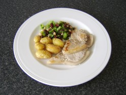 Served as part of a main meal with pork fillets and roasted potatoes