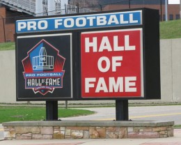Canton Ohio home of the Pro Football Hall of Fame