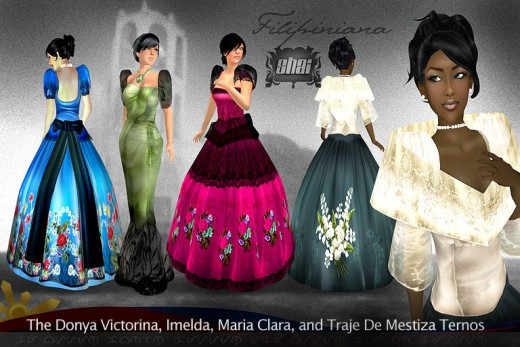 Classical Ladies 39 Fashion Design And The Society Changing 6 Philippine Terno