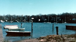 Image of community pier off to left, where I spent time alone; my thinking place.