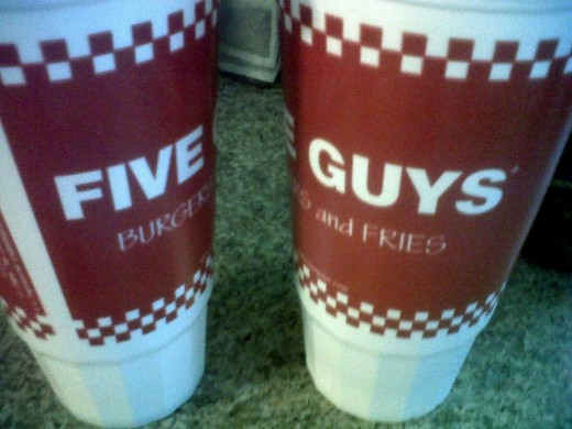 Matt and I indulged into some delicious burgers and fries from Five Guys.