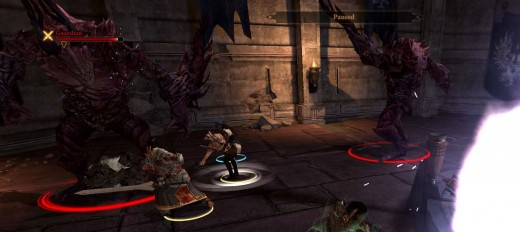 Dragon Age 2 Defeating the Second Guardian - which splits into three Guardians
