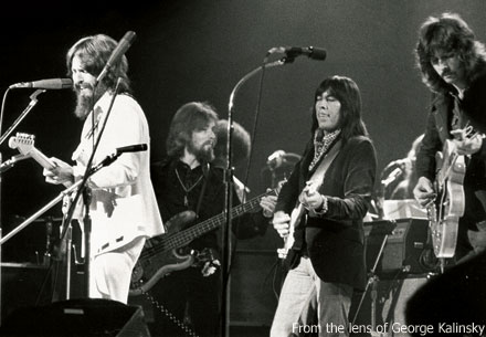 Harrison and Clapton (far right)