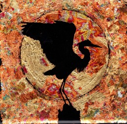 Reverse gilded crane
