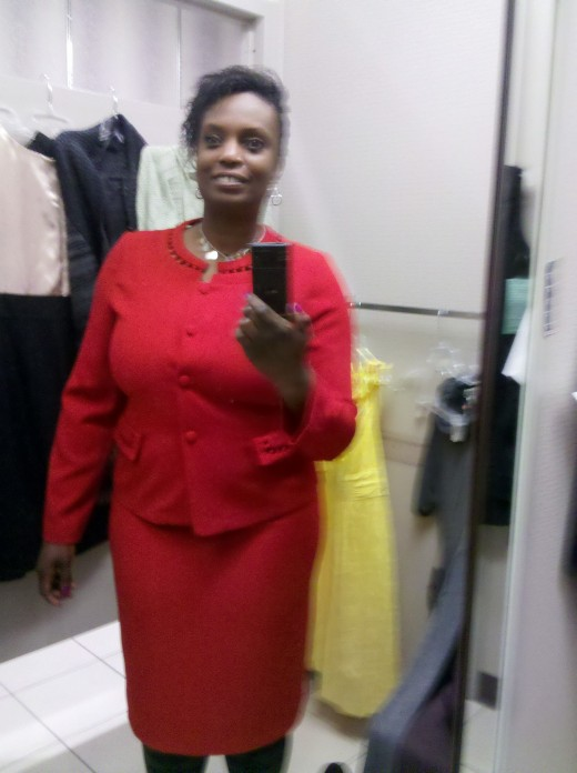 Looking ready for business in red