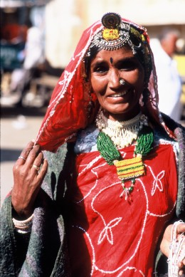 A beautiful lady in Jaisalmer