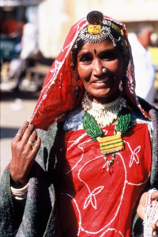 A beautiful lady in Jaisalmer