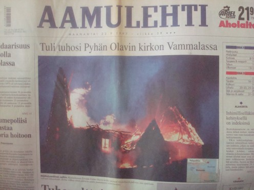 Church was destroyed by fire in 1997