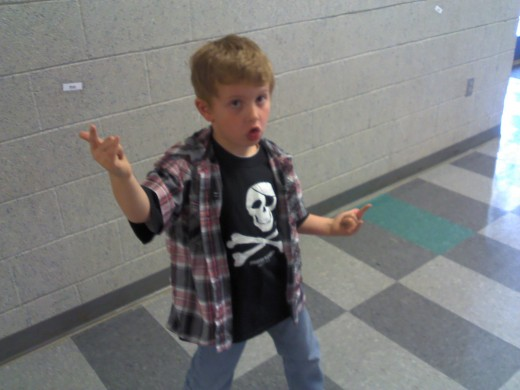 "One of my students being a ""rock star!"""