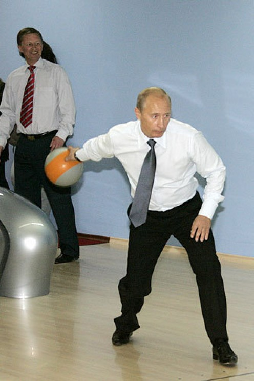 That bowling ball is actually 40 pounds.