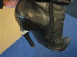 If the heel of your shoes suddenly got broken en route to work, what would be your temporary fix?