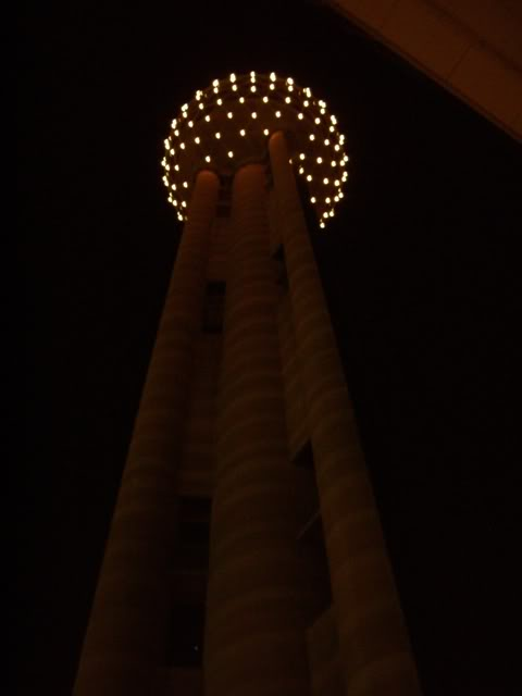Reunion Tower at Night - Close to the view at Reunion Station