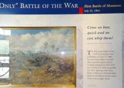 A display depicting the First Manassas battle.