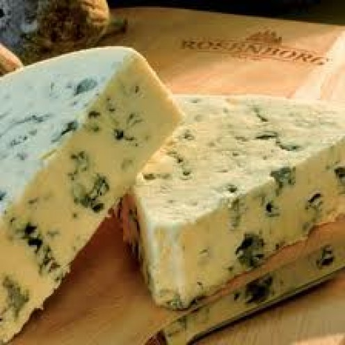 This is the type of cheese you need to avoid with the blue veins or mould running through it.
