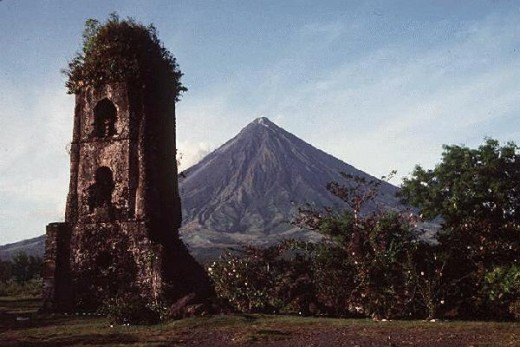 Mayon Volcano and Cagsawa ruins now