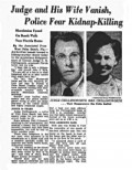 How the press reported the mysterious disappearance