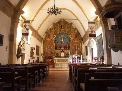 The altar of Mission San Carlos