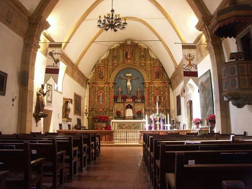 The altar of Mission San Carlos