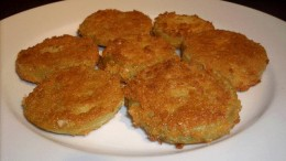 A plate full of fried green tomatoes
