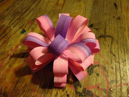 DIY gift bow