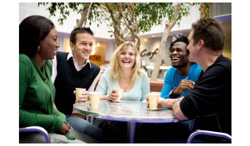 Group of people talking