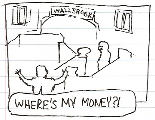 wallbrook where's money rainman movie sketch drawing