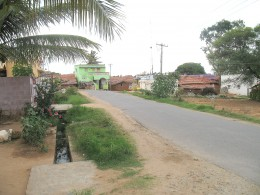 ROAD GOES RIGHT AT THE DOOR STEP OF THIS VILLAGE IN CHINNAKOOL - TAMIL NADU.