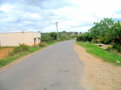 Road from Chinnakool to Bangalore 20 ft WIDE.