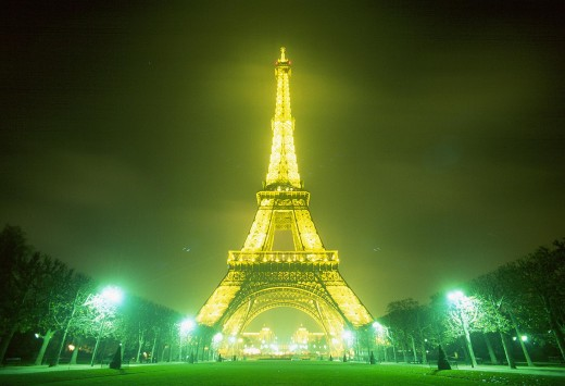 The Eiffel Tower. The best-known landmark of France