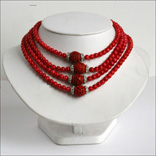 Cinnabar Lacquer Necklace