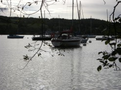 lake windermere with boats.
